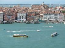 威尼斯,盐水湖的看法 免版税库存图片