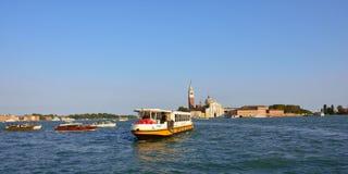 威尼斯,运河Giudecca 免版税图库摄影
