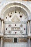 威尼斯, ITALY/EUROPE - 10月12日:圣徒标记部份看法  库存图片