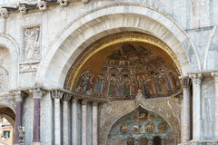 威尼斯, ITALY/EUROPE - 10月12日:圣徒标记部份看法  免版税库存照片