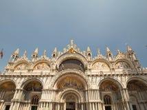 威尼斯/历史建筑学在城市推托的大广场, s宫殿 库存照片