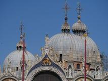 威尼斯-圆顶在圣马尔谷教堂教会大教堂里 免版税库存照片