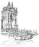 威尼斯-圣塔玛丽亚della致敬大教堂 免版税图库摄影