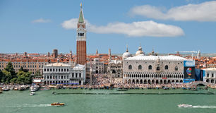 威尼斯-圣马可广场& Palazzo Ducale 库存照片