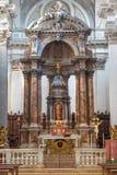 威尼斯-在教会圣玛丽亚del罗萨里奥(基耶萨dei Gesuati)的主要法坛 免版税库存照片