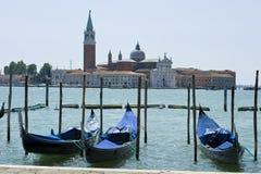 威尼斯-对Isola Della Giudecca的视图 库存照片