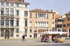 威尼斯 摆正在城市的历史的中心 库存照片