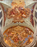威尼斯-格洛里亚della Santissima Trinita和教会基耶萨di圣彼得罗de Castello长老会的管辖区的圣洛伦佐Giustiniani  免版税库存照片