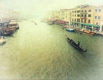 威尼斯-葡萄酒照片 免版税库存照片