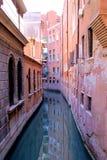 威尼斯水街道 免版税图库摄影