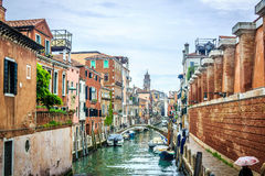 威尼斯-运河和桥梁 免版税库存照片