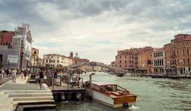 威尼斯水运河 免版税库存照片