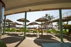 威尼斯- Lido,公共海滩 库存照片
