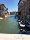威尼斯` s运河看法  库存照片