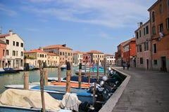 威尼斯Murano运河在天 免版税图库摄影