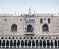 威尼斯Palazzo Ducale特殊性 免版税库存照片