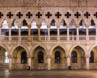 威尼斯Palazzo Ducale特殊性 免版税图库摄影