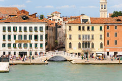 威尼斯Ponte del Sepolcro 免版税图库摄影