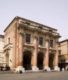 威岑扎,意大利,在钟楼附近的大广场 库存照片
