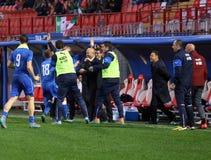 威岑扎,意大利- 2015年10月13日:UEFA以下的21冠军 库存图片