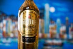 威廉装瓶的格兰特的、被混和的苏格兰威士忌酒格兰特&儿子布特尔在苏格兰 图库摄影