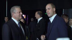 威廉,剑桥公爵王子,会见美国的戈尔副总统 股票视频