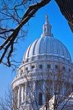 威斯康辛国会大厦,麦迪逊 免版税库存图片