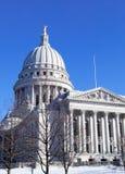 威斯康辛状态国会大厦,在麦迪逊,威斯康辛,美国 免版税库存图片