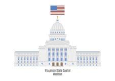 威斯康辛状态国会大厦,麦迪逊 皇族释放例证