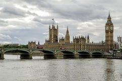 威斯敏斯特伦敦大笨钟 库存照片