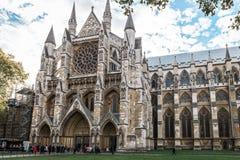 威斯敏斯特修道院在伦敦,英国 免版税库存图片