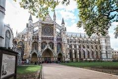 威斯敏斯特修道院在伦敦,英国 库存照片