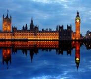 威斯敏斯特和大笨钟在伦敦 免版税库存照片