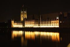 威斯敏斯特宫殿在伦敦在晚上 免版税库存照片