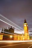 威斯敏斯特宫殿在晚上 免版税库存照片