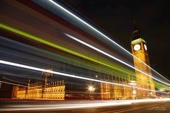 威斯敏斯特宫殿在晚上 库存照片