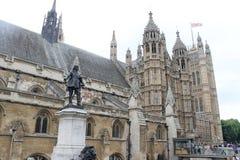 威斯敏斯特宫殿,其他看法 免版税库存图片