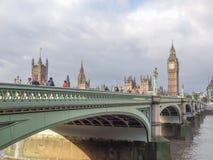 威斯敏斯特桥梁伦敦 免版税库存照片