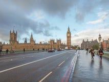 威斯敏斯特桥梁伦敦 库存图片