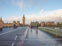 威斯敏斯特桥梁伦敦 库存照片