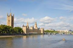 威斯敏斯特桥梁,伦敦 库存照片