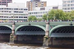 威斯敏斯特桥梁 库存照片