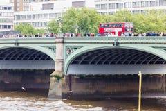 威斯敏斯特桥梁 免版税库存图片