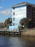 威明顿,从木板走道的北卡罗来纳看法  库存照片