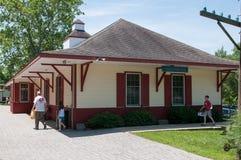 威明顿, DE 6月15日:威明顿和西部铁路是去在旅游的访客的一条遗产火车线 免版税库存图片