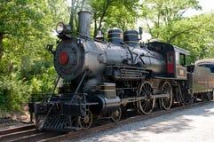 威明顿, DE 6月15日:威明顿和西部铁路是去在旅游的访客的一条遗产火车线 免版税库存照片