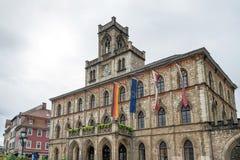 威玛, GERMANY/EUROPE - 9月14日:城镇厅的看法 库存照片