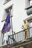 威玛, GERMANY/EUROPE - 9月14日:金黄雕象亨利五世 库存照片