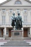 "威玛, GERMANY/EUROPE - 9月14日:Goethe†""席勒Mo 免版税库存照片"