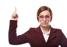 威胁与手指的严厉老师 库存图片